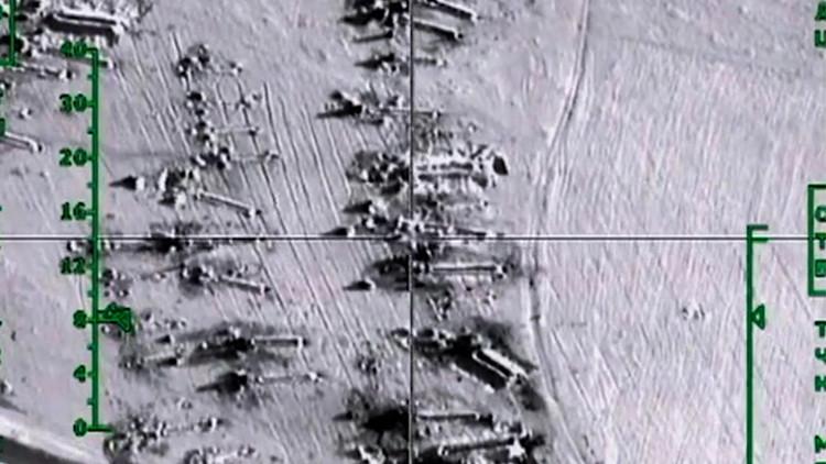 الطائرات الروسية تقصف مواقع الارهابيين