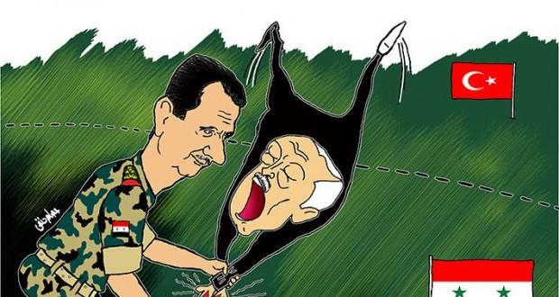 كاريكاتور: أصابع تركيا تحترق في شمال سوريا