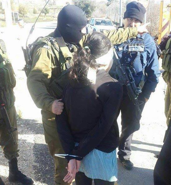 صورة الطفلة المعتقلة شمال الخليل