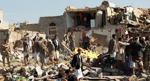 العدوان السعودي - الأمريكي على الشعب اليمني مستمر منذ عشرة أشهر