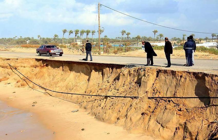 شواطئ غزة الجنوبية مهددة بالغرق!