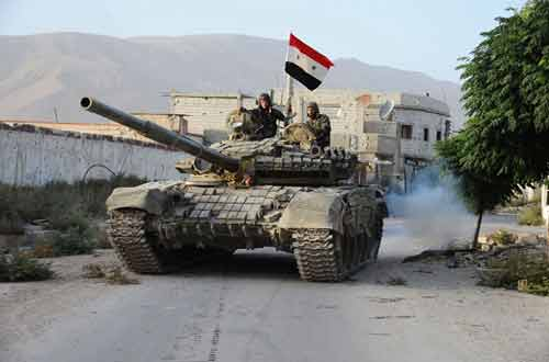 دبابة سورية في محيط تدمر