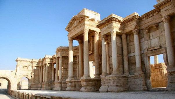 ترميم الآثار المتضررة في مدينة تدمر السورية يحتاج الى خمس سنوات