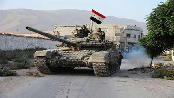 """الجيش السوري يستهدف تجمعات لـ """"داعش"""" في مناطق متفرقة في القلمون ويدمر عدداً من الاليات"""