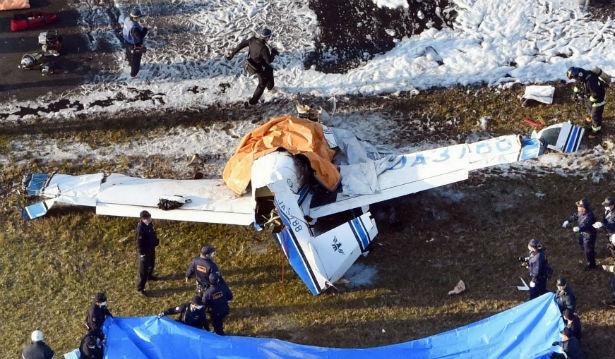 تحطم طائرة يابانية إرشيفية