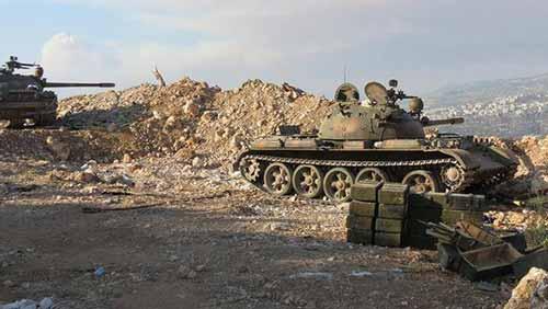 الجيش السوري وحلفاؤه يستعيدون السيطرة على بلدة وتل العيس بريف حلب الجنوبي