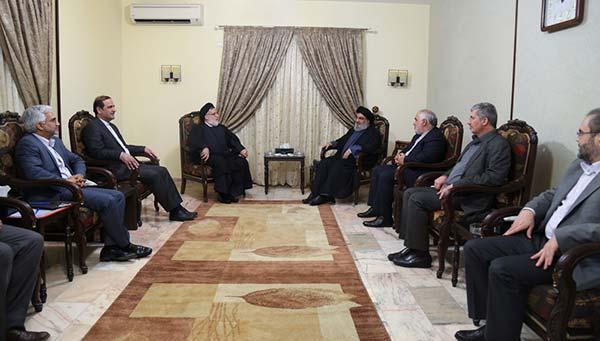 السيد نصر الله مستقبلاً معاون رئيس الجمهورية الاسلامية الايرانية والوفد المرافق
