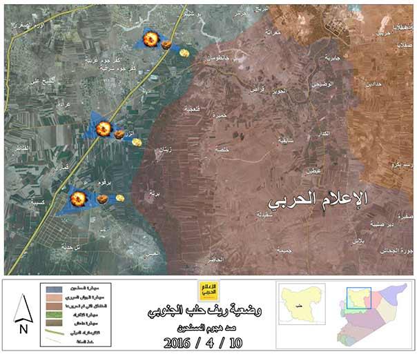 الجيش السوري وحلفاؤه يحبطون أكبر هجوم للمجموعات المسلحة في ريف حلب الجنوبي
