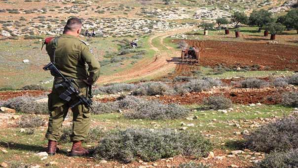 جندي صهيوني في الاراضي الفلسطينية