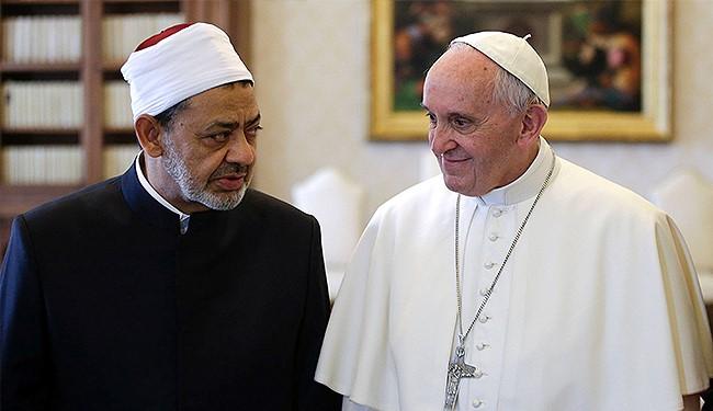 بابا الفاتيكان وشيخ الازهر