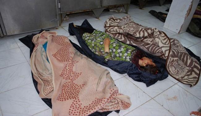 صورة ارشيفية لضحايا المجازر التي ارتكبها الارهابيون في ريف حماه
