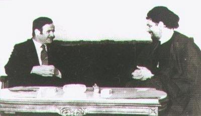 حافظ الأسد مع موسى الصدر