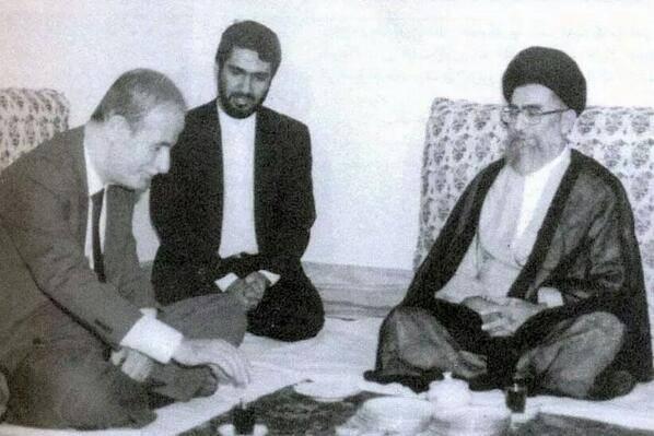 حافظ الأسد مع علي خاميني