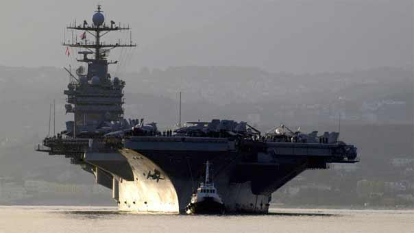 حاملة طائرات أميركية في البحر الأبيض المتوسط