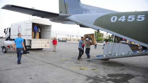 طائرة تشيكية محملة بالمساعدات الى سوريا