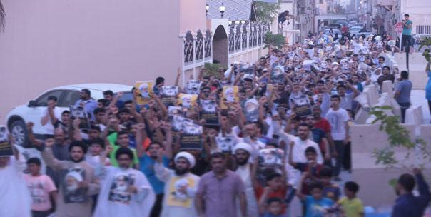 اعتصام الدراز غرب العاصمة البحرينية ينهي يومه الـ 153 متحدياً سلطة الكيان الخليفي