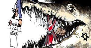 #كاريكاتور: دماء تسيل وأشلاء بشرية تتطاير وهو يعرب عن قلقه!