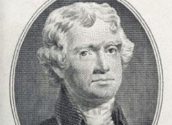 توماس جيفيرسون 1801 ـ 1809 (كاتب إعلان الاستقلال وفيه عبارة: «كل البشر يولدون متساوين»)  عندما كتب جيفيرسون «إعلان الاستقلال» وكرّس المساواة في الشرعة تلك، كان يمتلك 175 عبداً واشتهر عنه أنه كان يسيء معاملتهم ويعذّبهم. وفيما حرّر معظم المسؤولين عبيدهم بعد الثورة ظلّ جيفيرسون، على مدى 50 عاماً، أحد أبرز تجّار الرقيق في ولايته ومن أشهر اقتراحاته: إبعاد كل طفل من أم بيضاء وأب أسود الى خارج ولاية فيرجينيا.  ■ السود هم طاعون مجتمعنا  ■ «لم أر قط أي عمل فنّي أو لوحة أو شعر عند السود.. فقدراتهم الفكرية أقلّ من قدرات البيض».