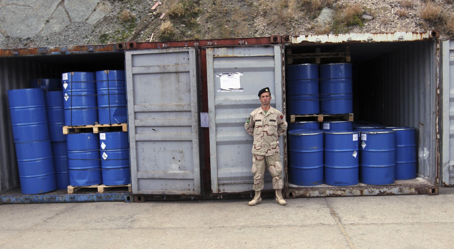 السلاح الكيميائي السوري الذي تم تدميره