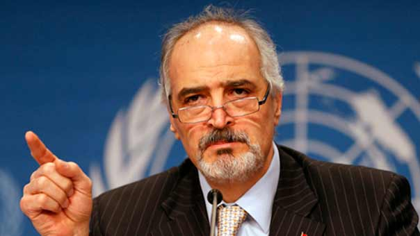 الجعفري: أي طرف مفاوض لا يدين هجمات حمص شريك في الإرهاب