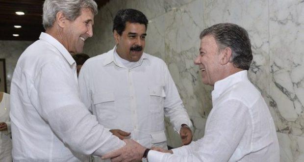 لقاء بين #مادورو و #كيري في #كولومبيا