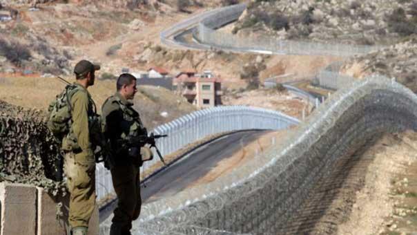 جنود اسرائيليين عند الحدود اللبنانية الفلسطينية