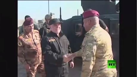 #العبادي يزور القطعات العسكرية قرب #الموصل