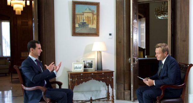 الرئيس الأسد لقناة دنماركية: المعارضة المعتدلة خرافة ولا وجود لها..لن نقبل بأن يسيطر الإرهابيون على أي جزء من سورية