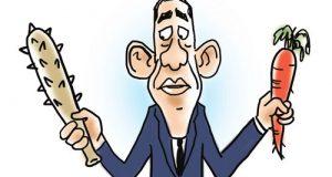 #كاريكاتور_صيني: دبلوماسية #أوباما المعتمدة على القوة الذكية تفتقر للحكمة