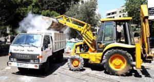 """إضراب """"سوكلين"""" يتواصل واتحاد بلديات الضاحية الجنوبية يبدأ برفع النفايات من الشوارع"""