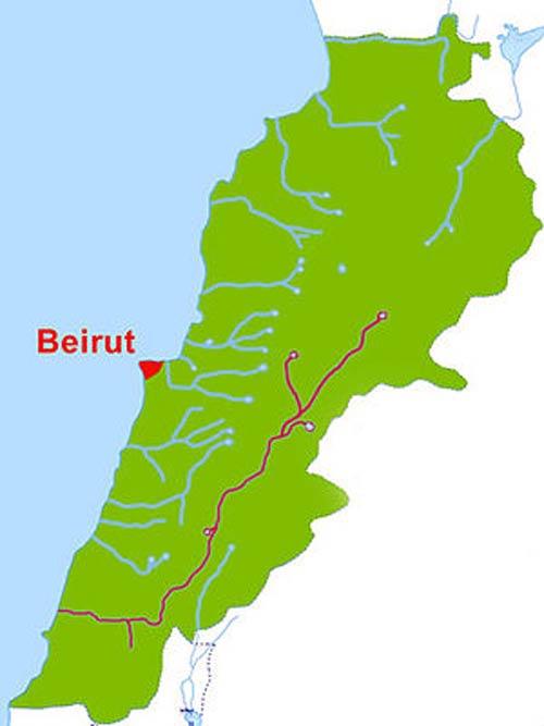 نهر الليطاني على الخريطة من المنبع إلى المصب