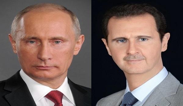 الأسد يعزي بوتين: أفراحنا وأتراحنا واحدة