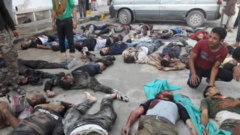 عشرات القتلى والجرحى في تفجير انتحاري بمعبر أطمة السوري