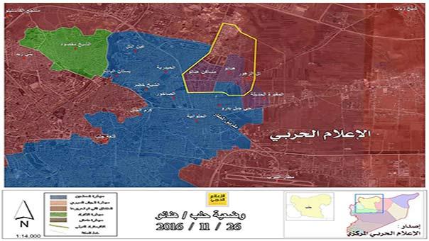الجيش السوري يسيطر على حي مساكن هنانو في حلب