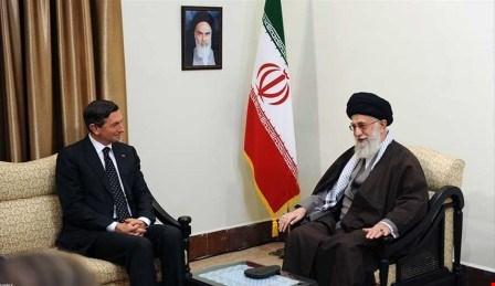 khamenei-slovinian-president