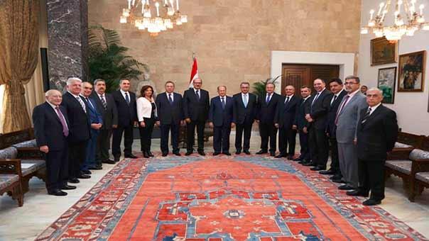 الرئيس عون يستقبل وفد نقابة المحامين