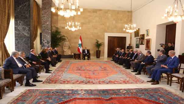 الرئيس عون أجرى الجولة الأولى من الاستشارات المُلزمة وإجماع على تسمية الحريري