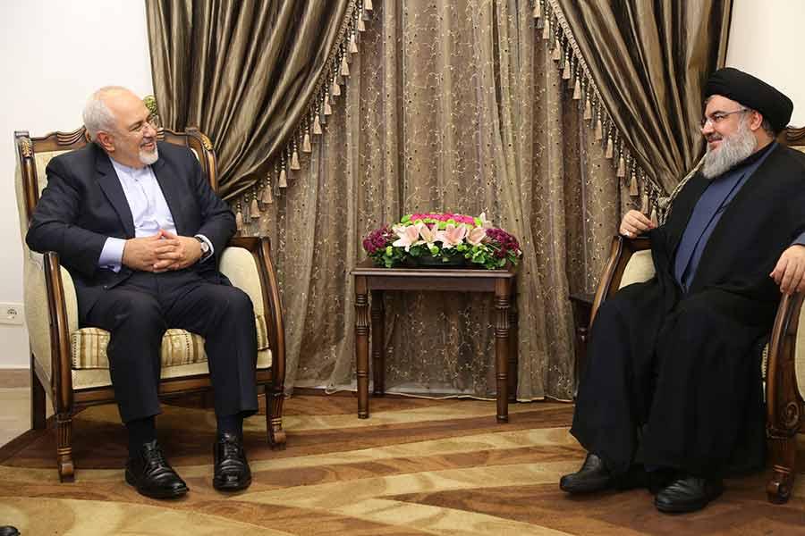السيد نصر الله استقبل ظريف عارضًا معه التطورات السياسية في لبنان والمنطقة