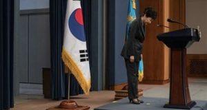 الحزب الحاكم في #كوريا_الجنوبية يطالب الرئيسة  بارك غيون-هي بمغادرة السلطة