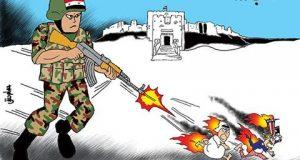#كاريكاتير #عصام_حنفي : #الجيش_السوري يلاحق الأشرار في #حلب