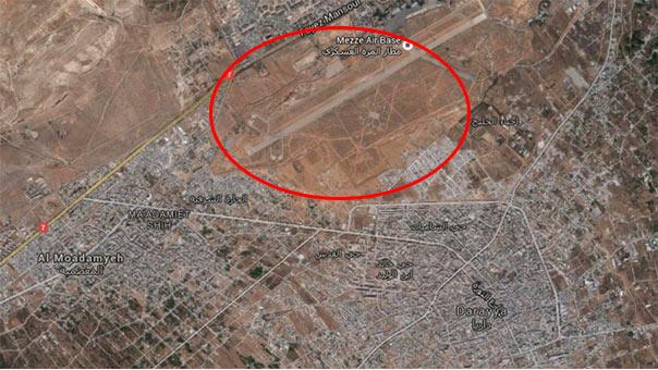 العدو الاسرائيلي يحاول رفع معنويات الإرهابيين ويقصف مطار المزّة غرب دمشق دون سقوط اصابات