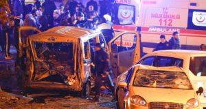 مقتل 15 شخصا وإصابة 69 آخرين في اعتداء مزدوج وسط اسطنبول .