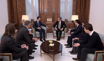 الوفد الفرنسي ينقل عن الأسد تفاؤله بمحادثات أستانة