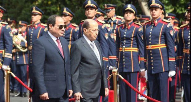 الرئيس اللبناني من القاهرة : لمبادرة انقاذ عربية لمحاربة الإرهاب