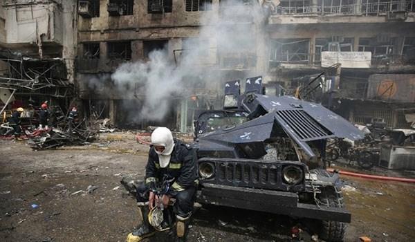 15 شهيدا و50  جريحا فى انفجار سيارة مفخخة بمدينة الصدر ببغداد