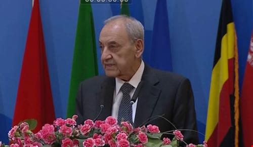 الرئيس بري من المؤتمر السادس لدعم القضية الفلسطينية: اطفاء الحرب في الشرق الأوسط يبدأ من فلسطين وينتهي بها