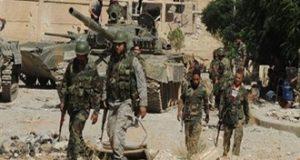 """الجيش السوري يواصل هجومه على """"داعش"""" شرقي حمص ودير الزور"""