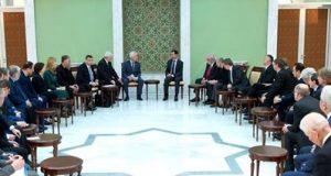 الرئيس السوري يستقبل وفداً برلمانياً روسيا أوروبياً