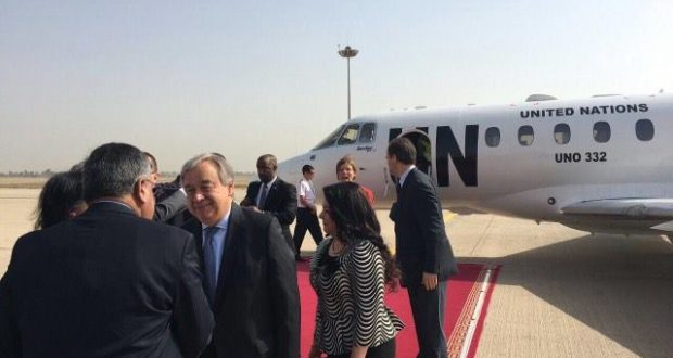 الأمين العام للأمم المتحدة يصل إلى بغداد في زيارة رسمية