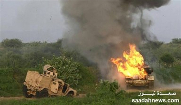 هجوم واسع على مواقع العدوان السعودي شمال المخاء